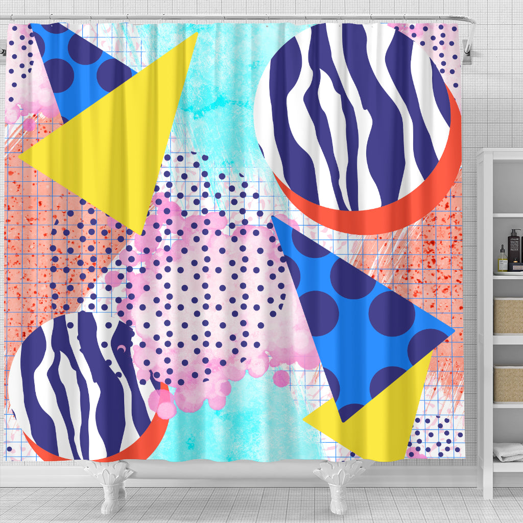 80s Fahion Girl Shower Curtain - STUDIO 11 COUTURE
