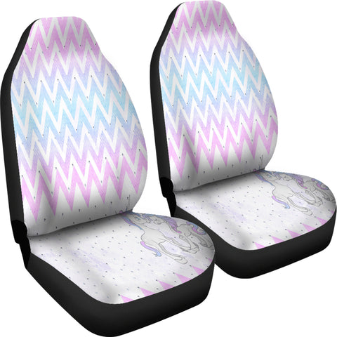 Unicorn In Love 3 Car Seat Covers