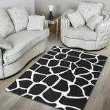 Floor Rug Animal Print Black And White Dress 08