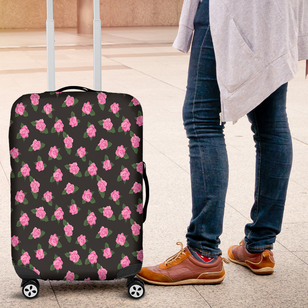 Black Rose Small Luggage Cover
