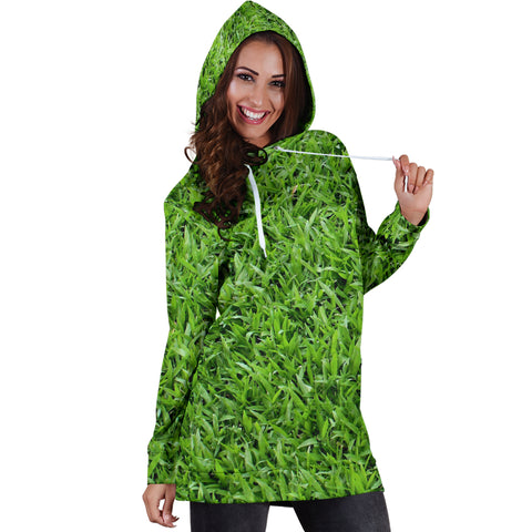 Grass Nature Women's Hoodie Dress