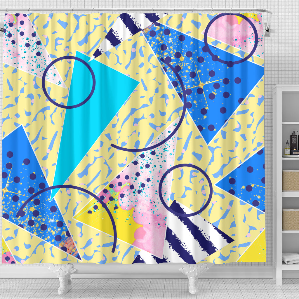 80s Fashion Girl Shower Curtain - STUDIO 11 COUTURE
