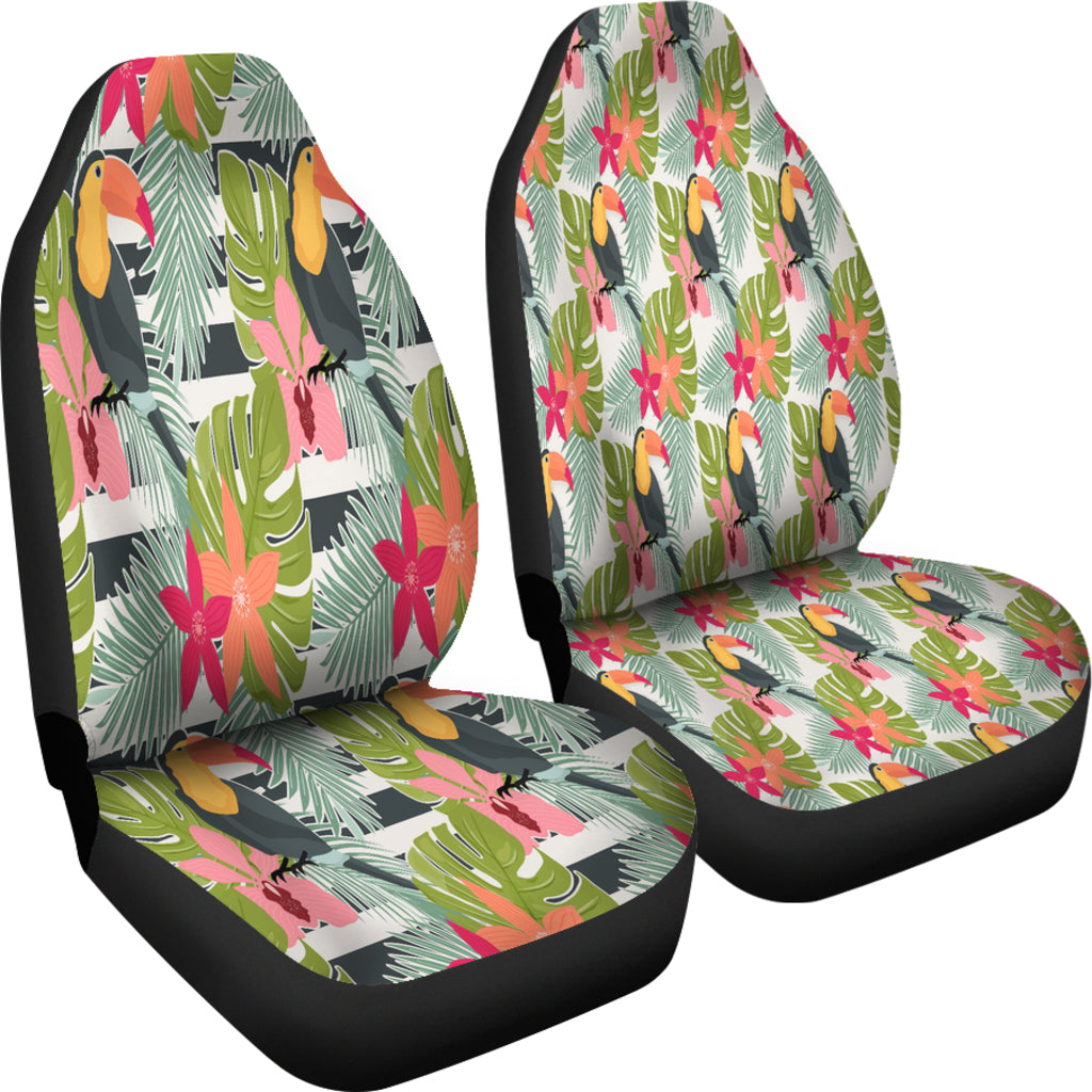 Tropical Large Tucan Bird Car Seat Covers