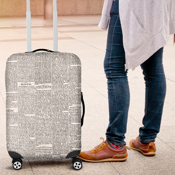 Old Newspaper Luggage Cover - STUDIO 11 COUTURE