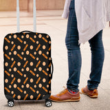 Orange Trick Or Treat Candy Luggage Cover
