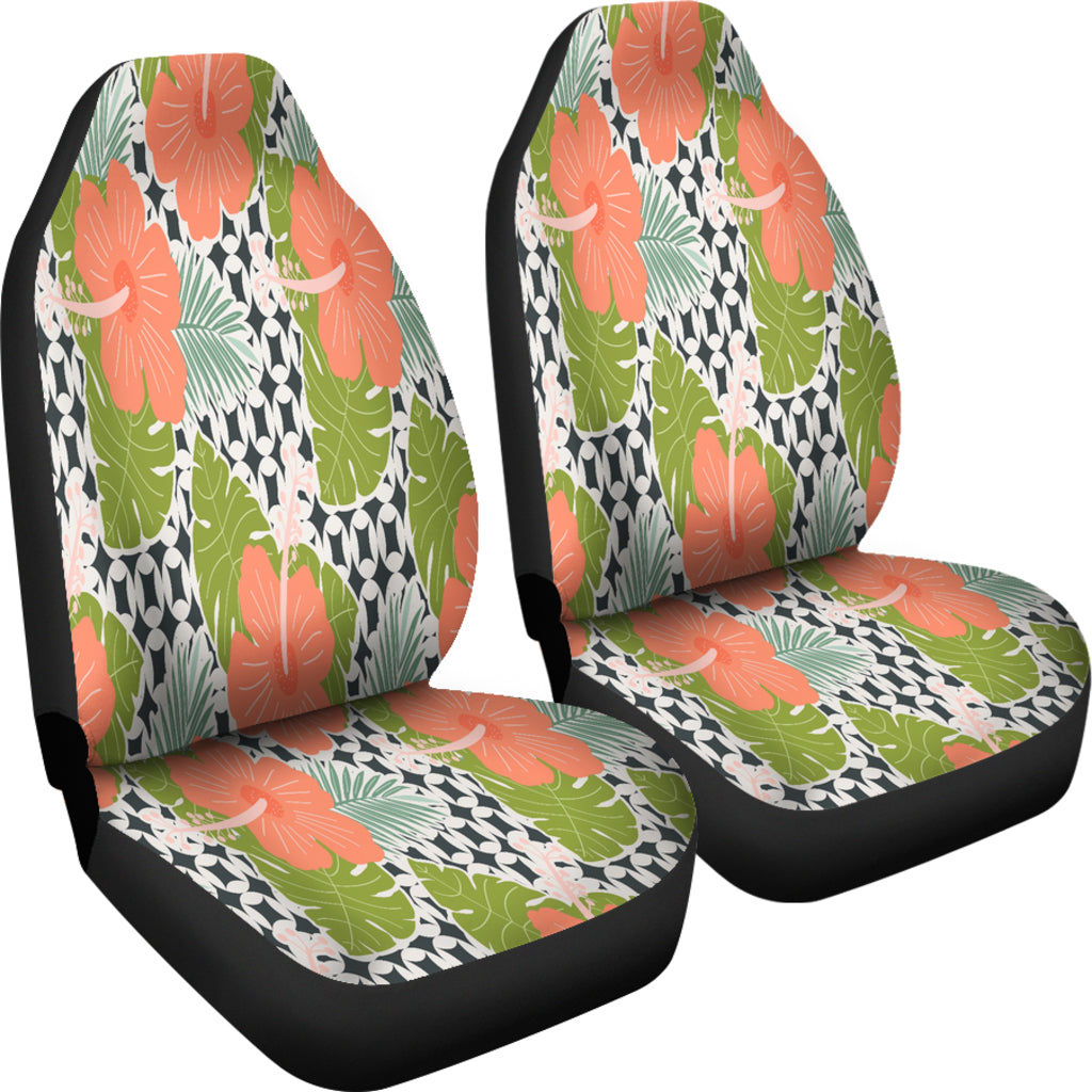 Hibiscus Tropical Flower Car Seat Covers