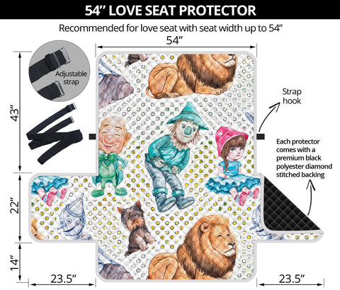 54'' Futon Sofa Protector Premium Polyster Fabric Custom Design Wizard Of OZ 10