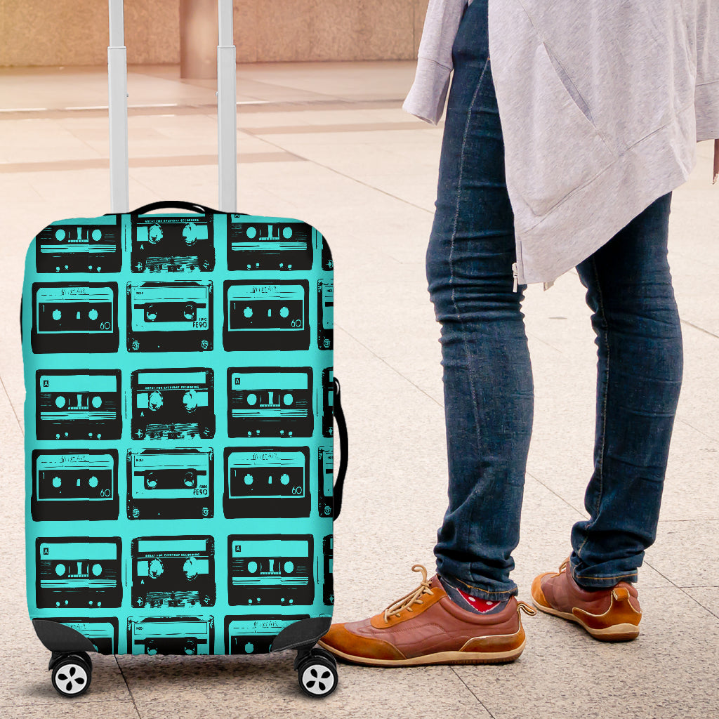 80s Boombox 3 Luggage Cover - STUDIO 11 COUTURE