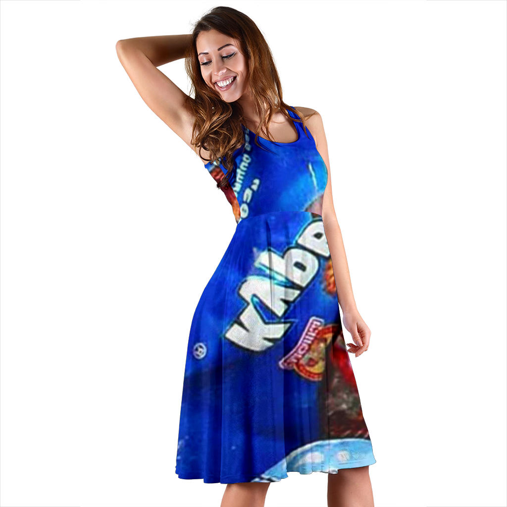 Women's Dress, No Sleeves, Custom Dress, Midi Dress, Candy 02