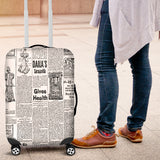 Scrambled Eggs Old Newspaper Luggage Cover - STUDIO 11 COUTURE
