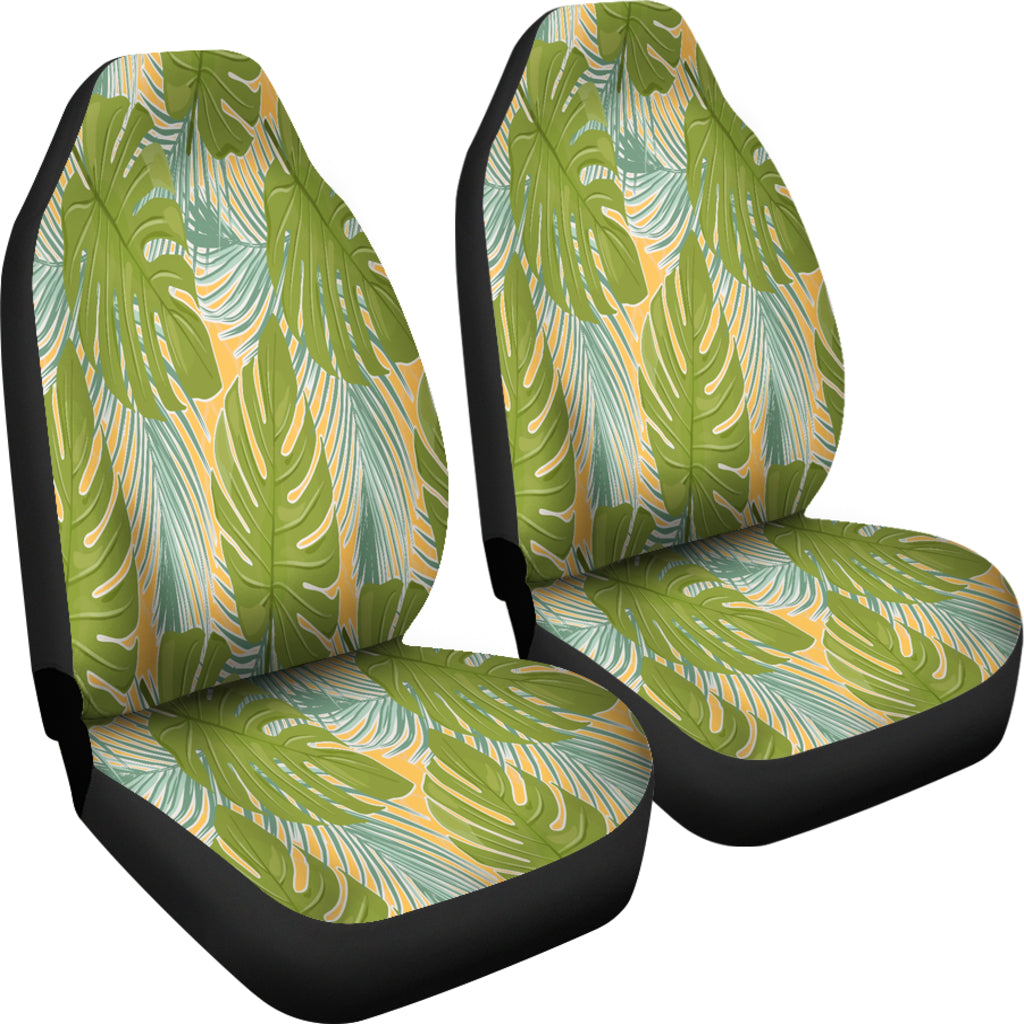 Tropical Palm Leaves Car Seat Covers