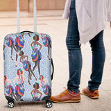 80s Fashion Girl 2 Luggage Cover - STUDIO 11 COUTURE