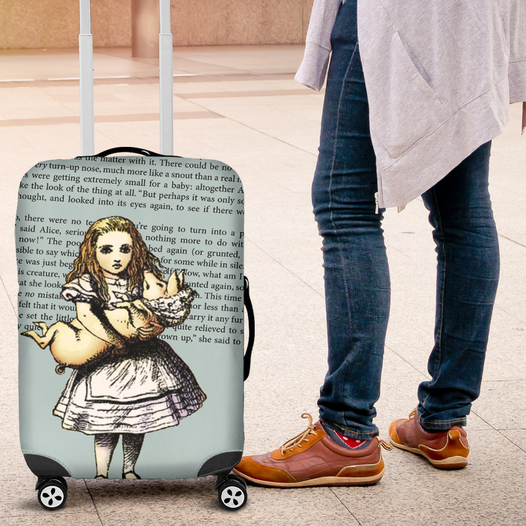 Alice And The Pig Luggage Cover - STUDIO 11 COUTURE