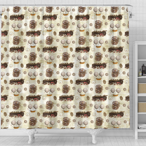 Steampunk 9 Shower Curtain - STUDIO 11 COUTURE
