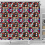 Sugar Skull Gothic Halloween Shower Curtain - STUDIO 11 COUTURE
