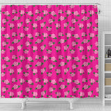 Magenta Rose Shower Curtain