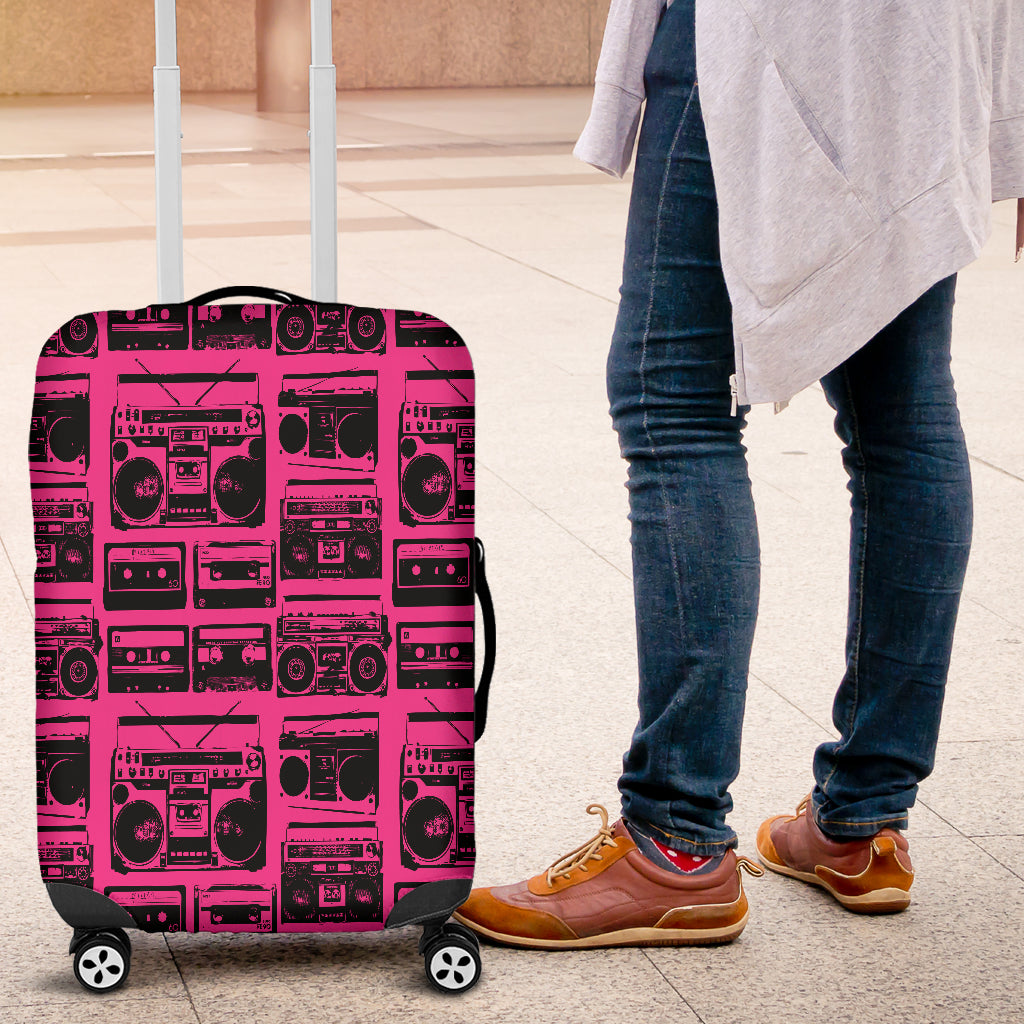 80s Boombox 6 Luggage Cover - STUDIO 11 COUTURE