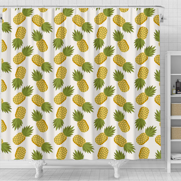 Tropical Pineapple Shower Curtain - STUDIO 11 COUTURE