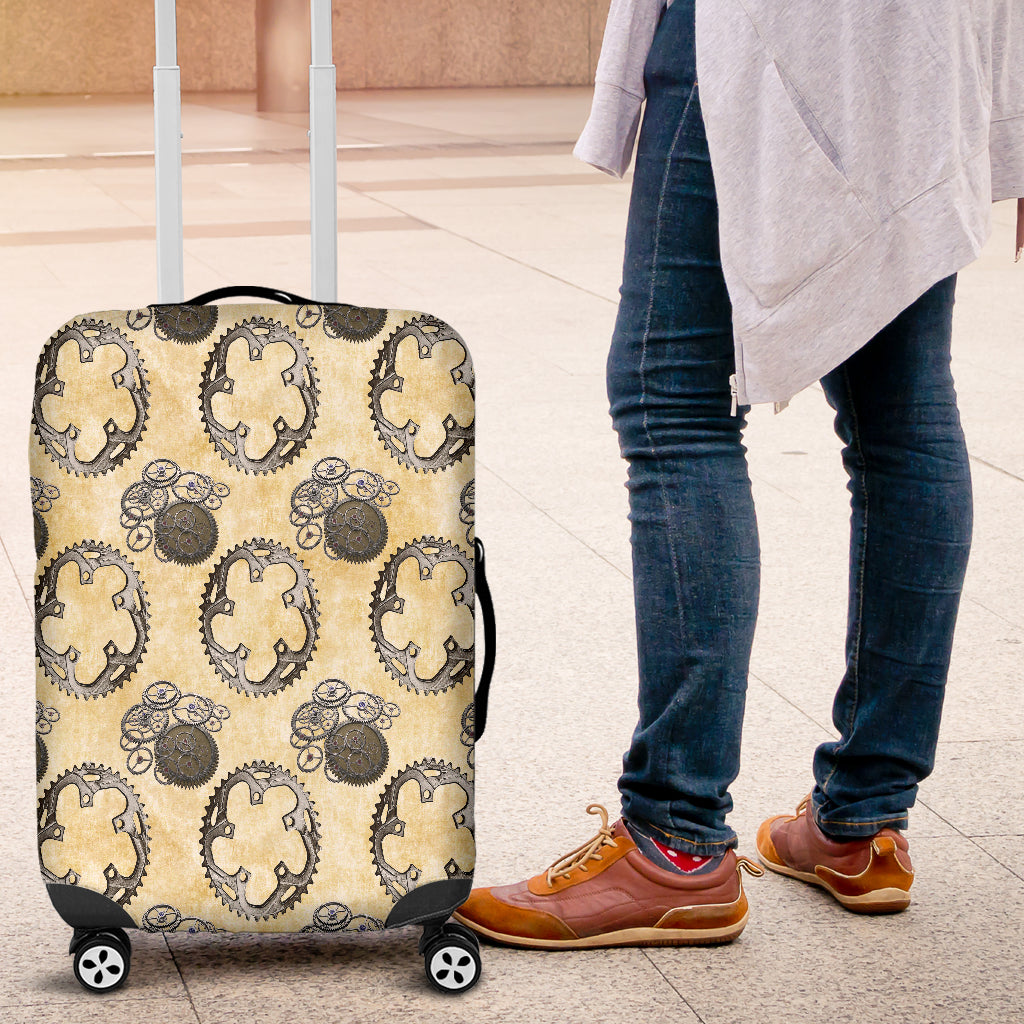Vintage Wheel Gear Steampunk Luggage Cover - STUDIO 11 COUTURE