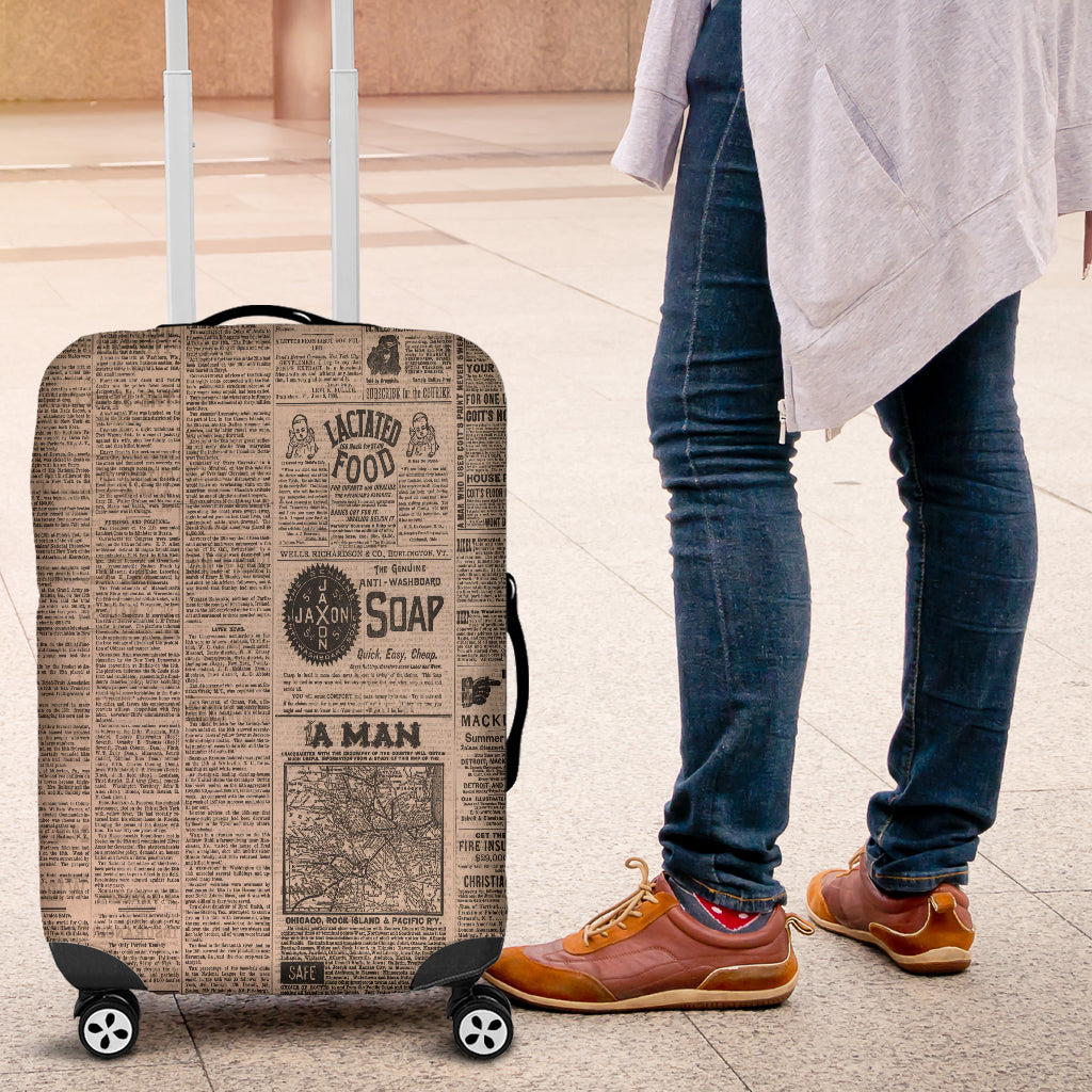 Old Newspaper 1 Luggage Cover