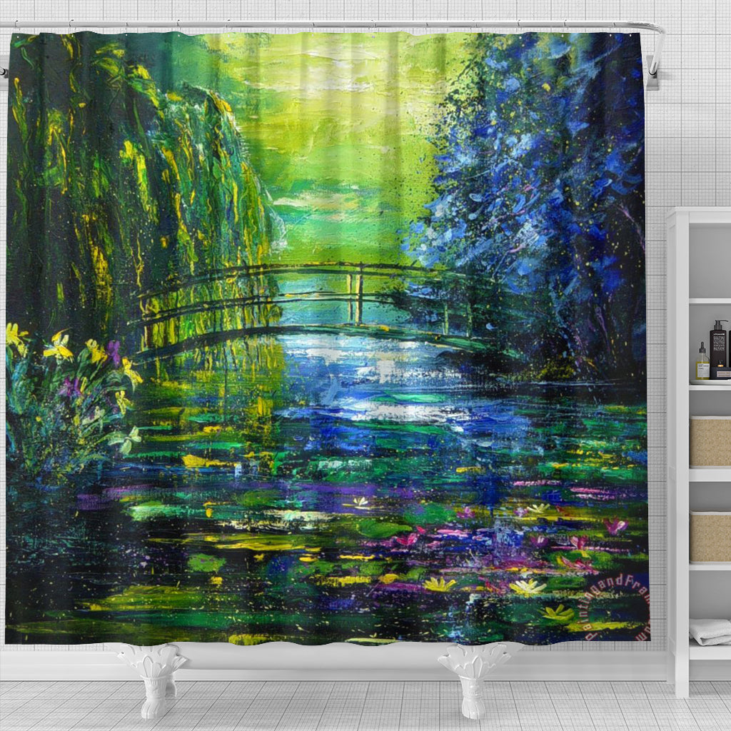 After Monet Shower Curtain - STUDIO 11 COUTURE