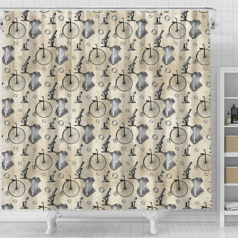 Steampunk 11 Shower Curtain - STUDIO 11 COUTURE