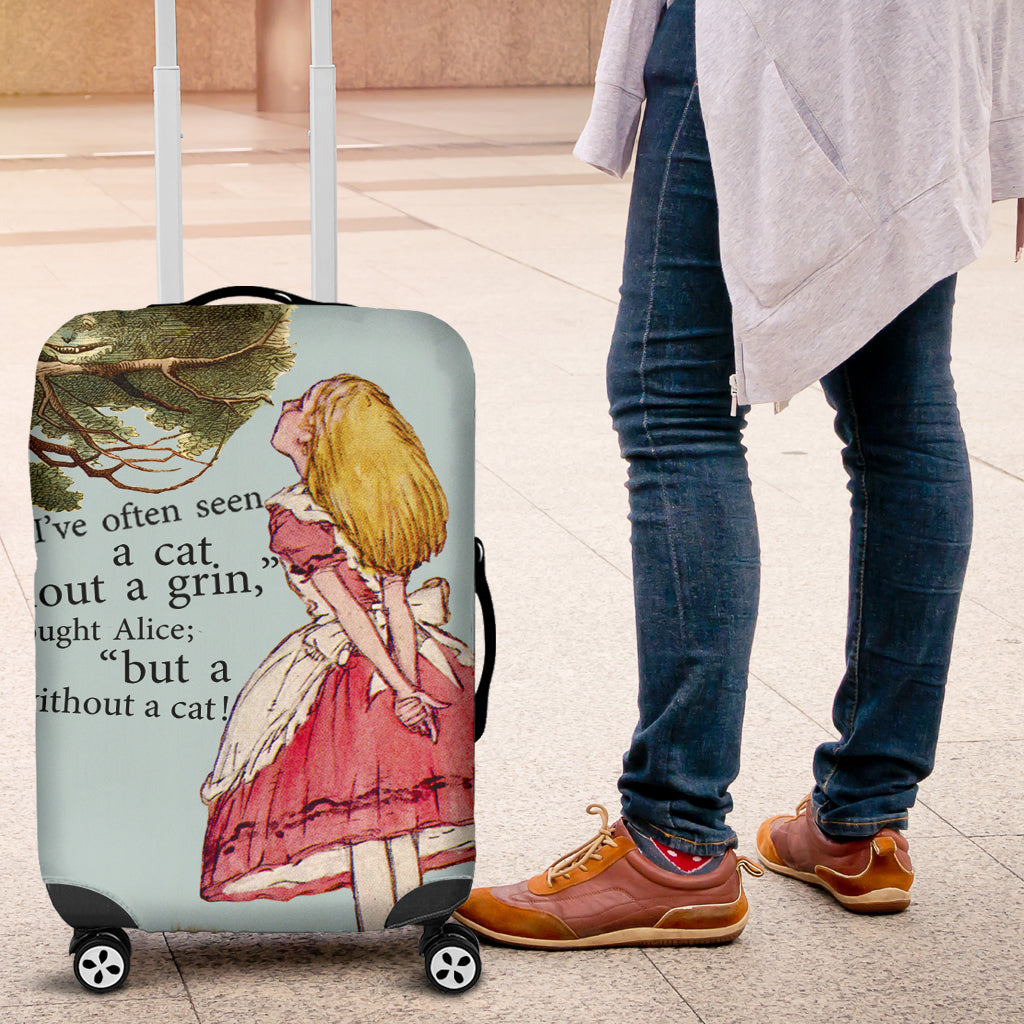 A Cat Without A Grin Luggage Cover - STUDIO 11 COUTURE