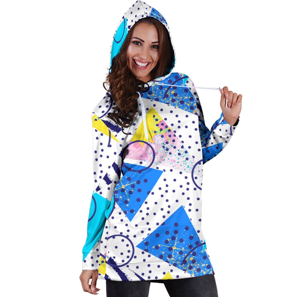 80s Curvy Fashion Girl Sexy Trendy Women Teen Long Sleeves Hoodie Dress Hooded Tunic