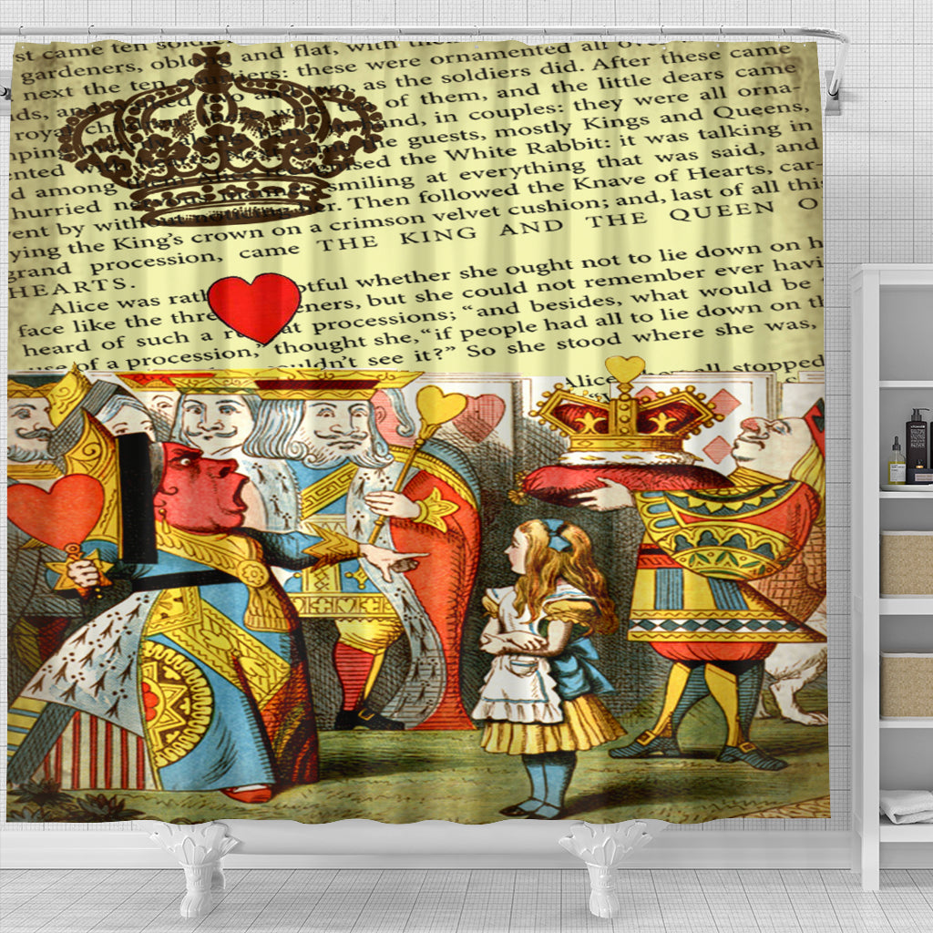 The King And The Queen Shower Curtain - STUDIO 11 COUTURE