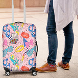 80s Fashion Girl 5 Luggage Cover - STUDIO 11 COUTURE