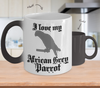 Image of Color Changing Mug Random Theme I Love My African Grey Parrot