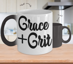 Color Changing Mug Funny Mug Inspirational Quotes Novelty Gifts Grace + Grit