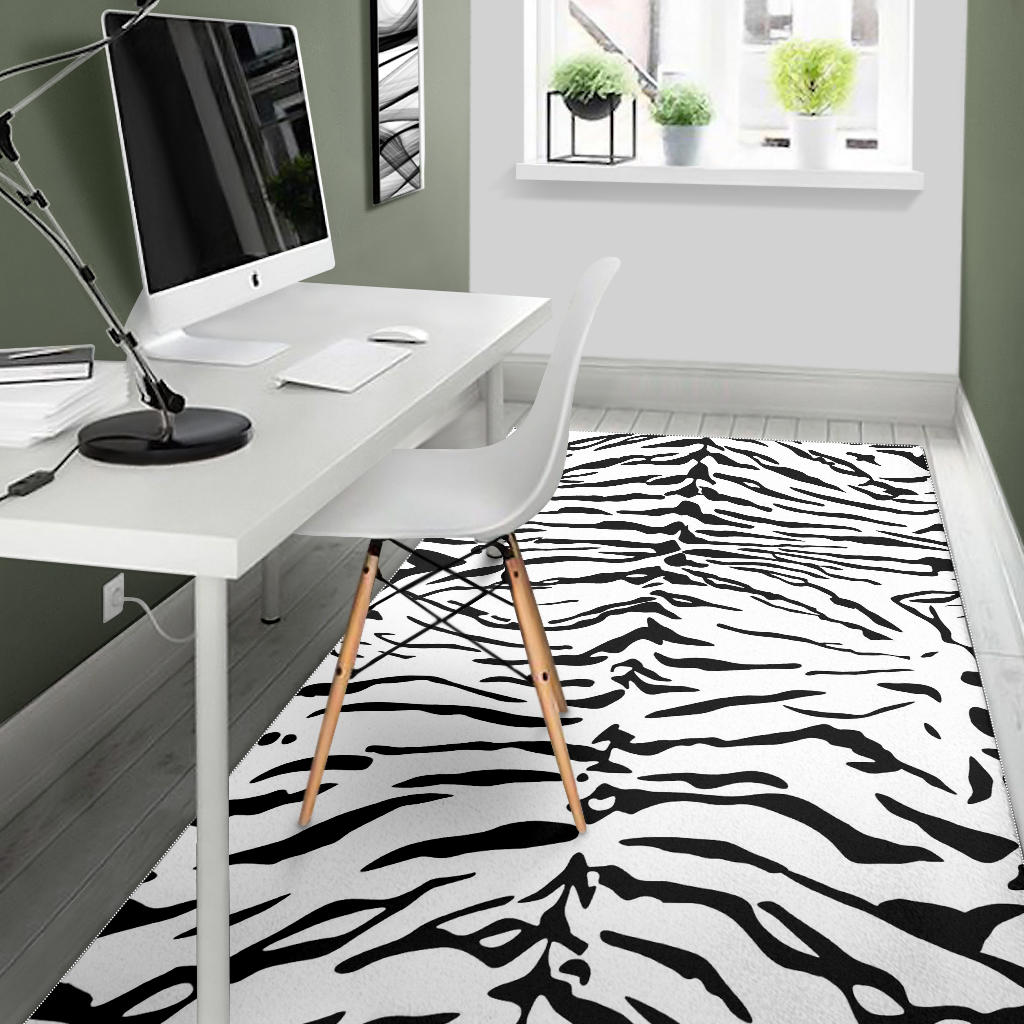 Floor Rug Animal Print Black And White Dress 06