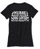Image of Women and Men Tee Shirt T-Shirt Hoodie Sweatshirt Nurse By Day Dog Lover By Night