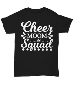 Women and Men Tee Shirt T-Shirt Hoodie Sweatshirt Cheer Moom Squad