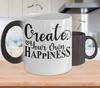 Image of Color Changing Mug Funny Mug Inspirational Quotes Novelty Gifts Create Your On Happiness