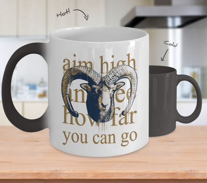 Color Changing Mug Animals Aim High And See How Far You Can Go