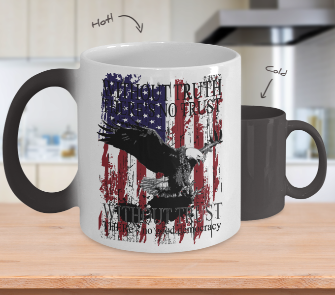 Color Changing Mug Animals Without Truth There Is No Without Trust There  Is No Good Democracy