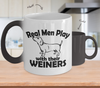 Image of Color Changing Mug Dog Theme Real Men Play With Thier Weiners