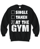 Image of Women and Men Tee Shirt T-Shirt Hoodie Sweatshirt Single Taken At The Gym