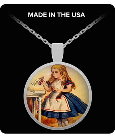 Alice In Wonderland Round Circle Classic Necklace 1.1