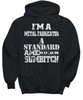 Image of Women and Men Tee Shirt T-Shirt Hoodie Sweatshirt I'm A Metal Fabricator A Standard American Sumbitch