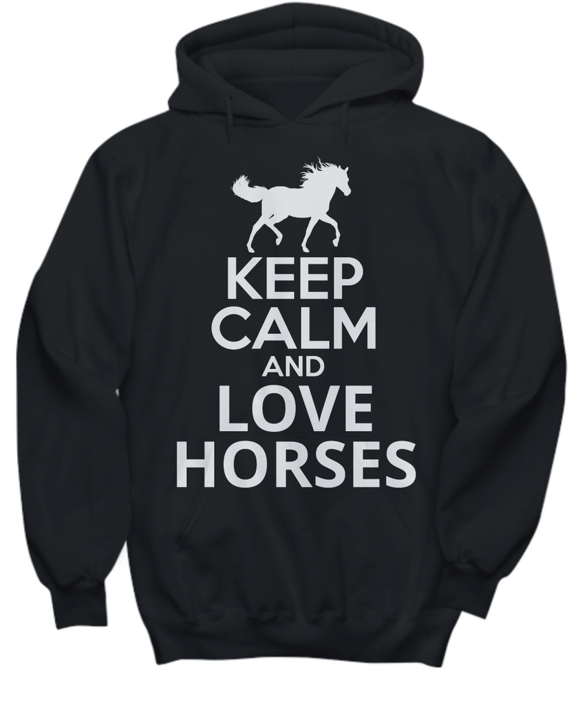 Women and Men Tee Shirt T-Shirt Hoodie Sweatshirt Keep Calm and Love Horses