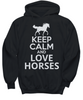 Image of Women and Men Tee Shirt T-Shirt Hoodie Sweatshirt Keep Calm and Love Horses