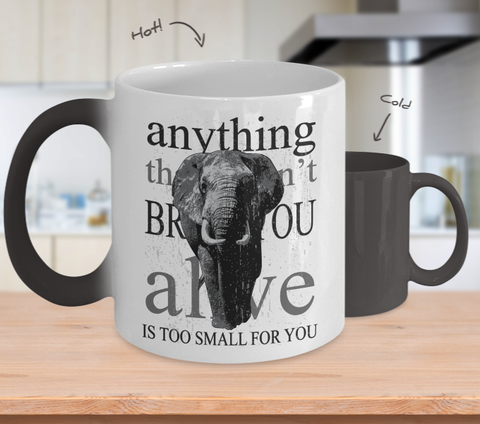 Color Changing Mug Animals Anything Doesn't Bring You Alive Is Too Small For You