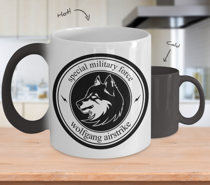 Color Changing Mug Animals Wolfgang Airstrike Special Military Force
