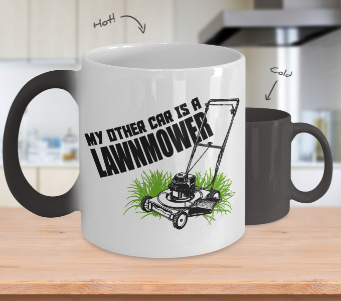 Color Changing Mug Random Theme My Other Car Is A Lawnmower