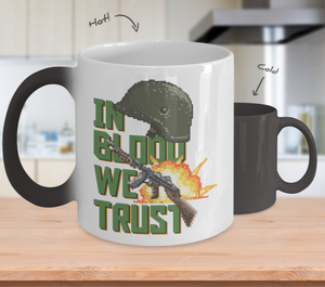 Color Changing Mug Retro 80s 90s Nostalgic In Blood We Trust