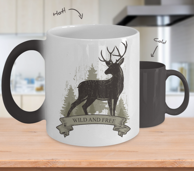 Color Changing Mug Animals Wild And Free