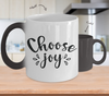 Image of Color Changing Mug Funny Mug Inspirational Quotes Novelty Gifts Choose Joy